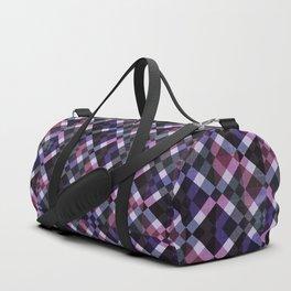 Retro Box Pattern Duffle Bag