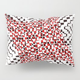 black white red 2 Pillow Sham