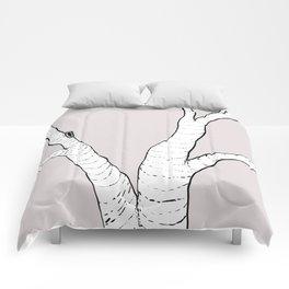 Birch Tree Illustration Comforters