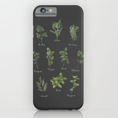 HERBS on black iPhone 6s Slim Case