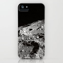 Terraced Wall Crater on the Lunar Limb  iPhone Case