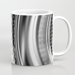Shimmering textures of laundry machine drum -- Everyday art Coffee Mug