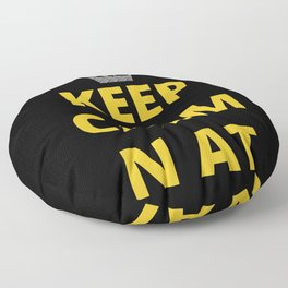 Pittsburgh Keep Calm N At 412 Funny Print Floor Pillow