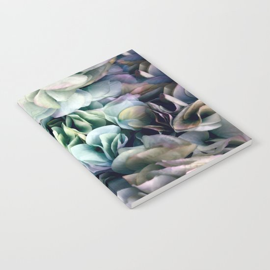 Soft Subtle Petal Ruffles Abstract  Notebook