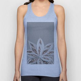 Gray Agave with Rose Gold Glitter #1 #shiny #tropical #decor #art #society6 Unisex Tank Top