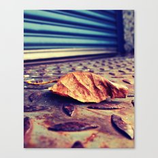 Loading dock leaf Canvas Print