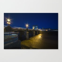 Newport night bridge  Canvas Print