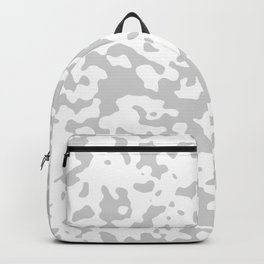 Spots - White and Light Gray Backpack