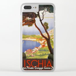 Ischia Island Italy summer travel ad Clear iPhone Case