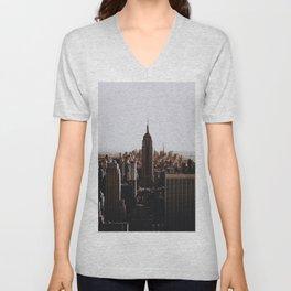 Rockefeller Center / New York City Unisex V-Neck