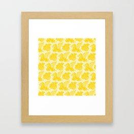 Pegasus Pattern Yellow Framed Art Print