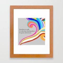 Gift of Boredom Framed Art Print