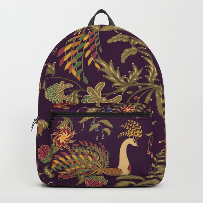 Birds of Paradise. Colorful illustration. Backpack