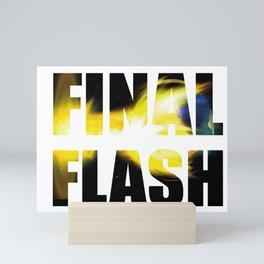 Final Flash Vegeta Mini Art Print