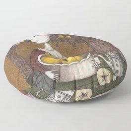 Portrait of an Apple Orchard Floor Pillow