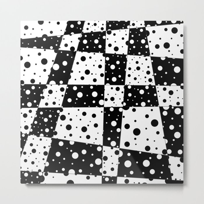 Holes In Black And White Metal Print