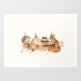 Woodland Party Art Print