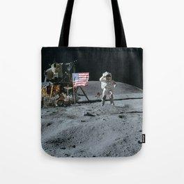 Apollo 16 - Astronaut Moon Jump Tote Bag