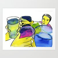 alcohol Art Prints featuring alcohol by Elcee