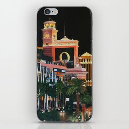 Las Vegas Strip Oil On Canvas iPhone Skin