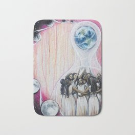 Sister Circle // Women Feminism Feminist Sisterhood Goddess Earth Moon Unity Peace Love Power Energy Bath Mat