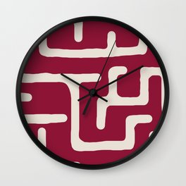 Kuba in oxblood Wall Clock