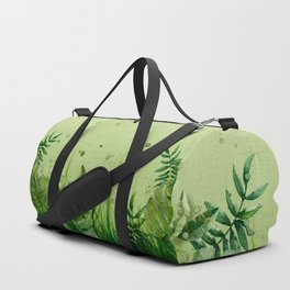 """Forest leaves and plants"" Duffle Bag"