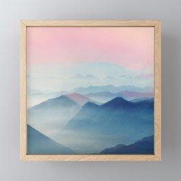 Mountains Framed Mini Art Print