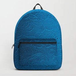 Royal Blue Tooled Leather Backpack
