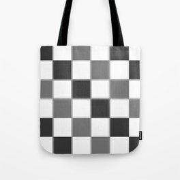 Slate & Gray Checkers / Checkerboard Tote Bag