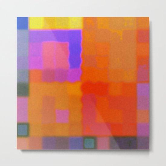 Colors and Fibers Metal Print