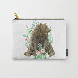 bear sitting in the forest Carry-All Pouch