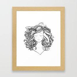Mermaid Fish Darling Framed Art Print