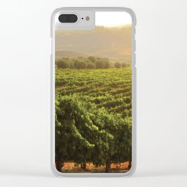 Wine Country Morning Clear iPhone Case
