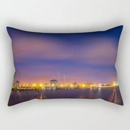 Gulfport Harbor before Sunrise Rectangular Pillow