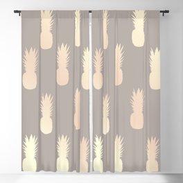 Pretty gold pineapple pattern Blackout Curtain