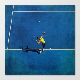 Novak Djokovic Tennis Serving Canvas Print