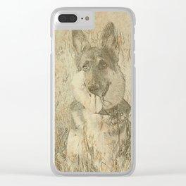 Loyal German Shepherd Clear iPhone Case