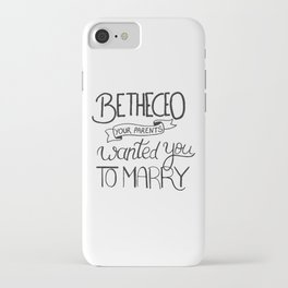 Be the CEO your parents wanted you to marry - girl power quote, feminist motivation iPhone Case