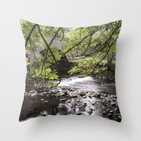 bridge Throw Pillows featuring Bridge   by Mark Spence