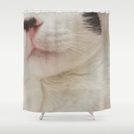 Black Nose Kitten Shower Curtain