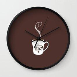 I Love You A Latte Wall Clock