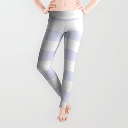 Light Lavender & White Stripe Pattern Leggings