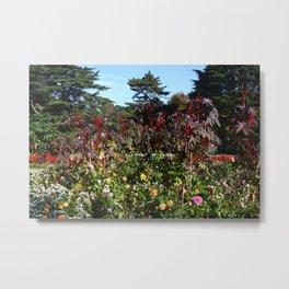 Flower Garden at Greenwich Park Metal Print