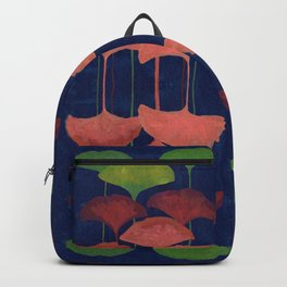 Ginkgo Leaf gouache painting design art print Backpack