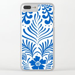 Mexican Folk Floral Ornaments Clear iPhone Case