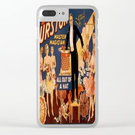 Vintage poster - Thurston the Magician Clear iPhone Case
