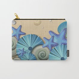 SEA SHELLS ON THE BEACH Carry-All Pouch