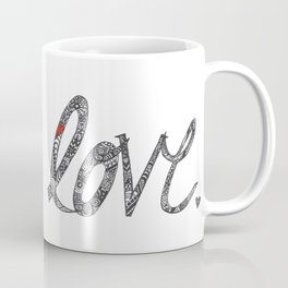 Love Zentangle  Coffee Mug
