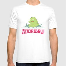 Adoribru! Mens Fitted Tee MEDIUM White